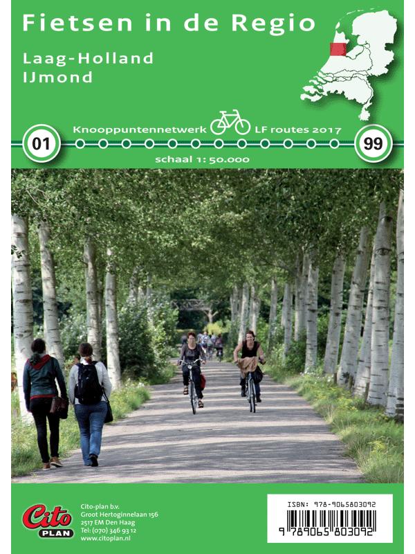 Fietskaart Regio Laag-Holland , IJmond