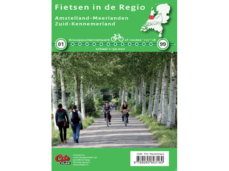 Fietskaart Regio Amstelland-Meerlanden, Zuid-Kennemerland
